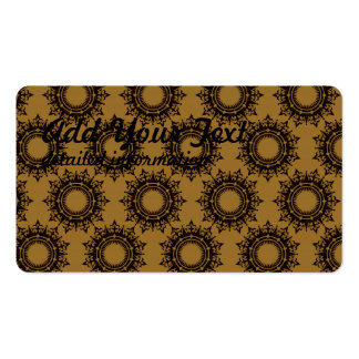 star circular pattern pack of standard business cards