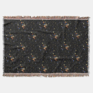 STAR CLUSTER an outer space design Throw Blanket