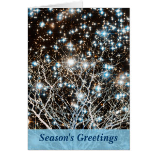 Star Cluster and White Tree Christmas Cards