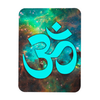 Star Cluster Aqua Om Symbol Magnet