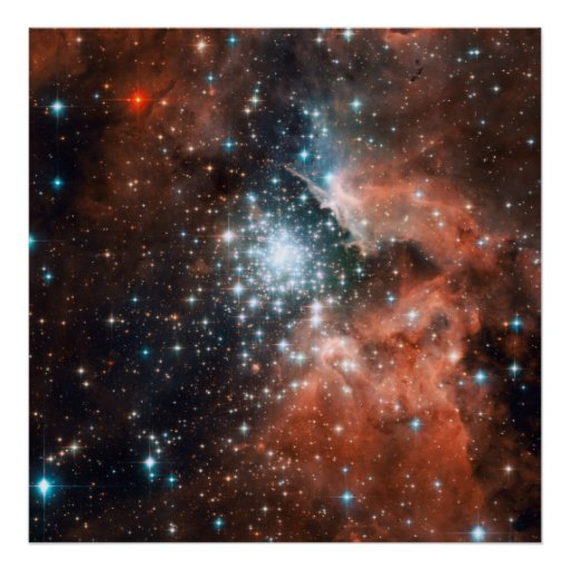 Star cluster bursts into life in new Hubble