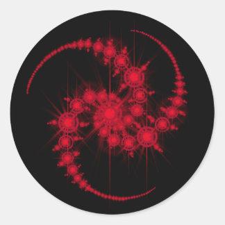 star cluster classic round sticker