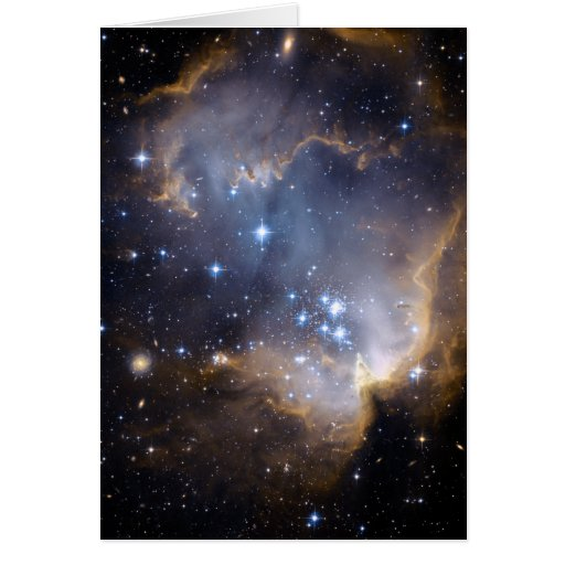Star Cluster N90 Hubble Space Card