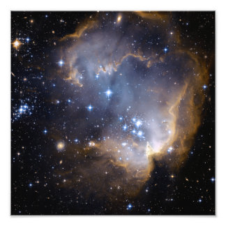 Star Cluster N90 Hubble Space Photo Art