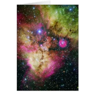 Star Cluster Nebula NGC 2467 Card