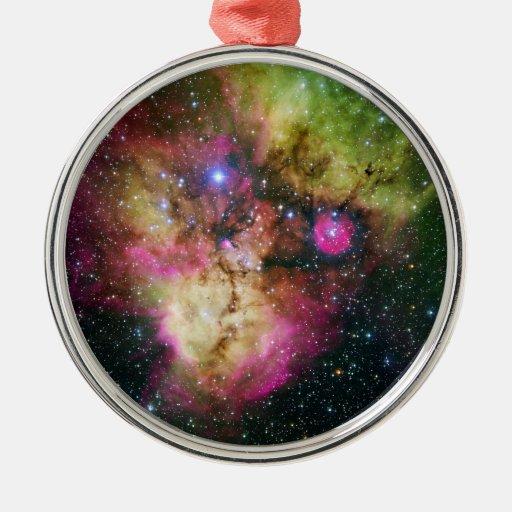 Star Cluster Nebula NGC 2467 Christmas Tree Ornaments