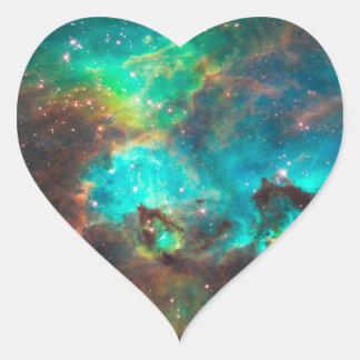 Star Cluster NGC 2074 Heart Sticker