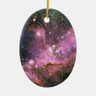 Star Cluster NGC 346 Hubble Space Ceramic Oval Decoration