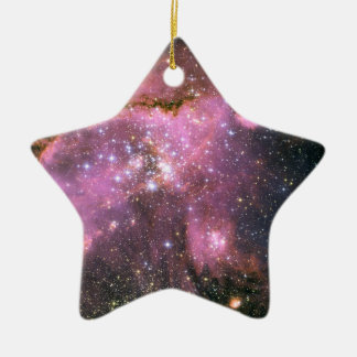 Star Cluster NGC 346 Hubble Space Double-Sided Star Ceramic Christmas Ornament