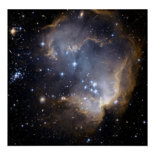 Star cluster NGC 602. Poster