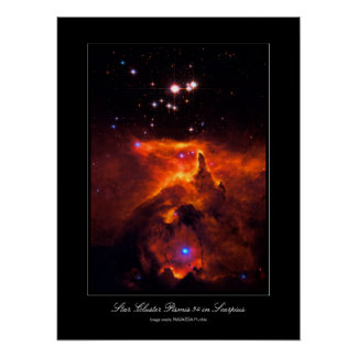 Star Cluster Pismis 24, core of NGC 6357 Poster