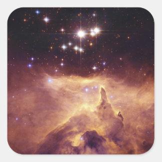 Star Cluster Pismis 24 in Emission Nebula NGC 6357 Square Stickers