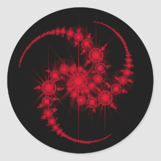 star cluster round sticker
