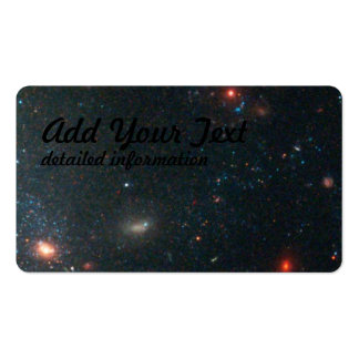 Star Clusters and Distant, Red Galaxies Near Edge Pack Of Standard Business Cards