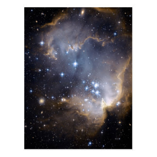 star clusters ngc 602 galaxy space universe postcard