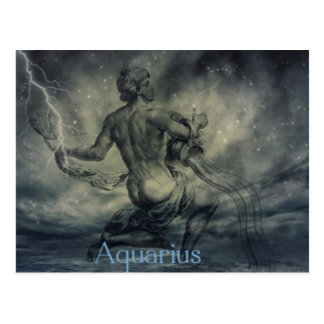 star constellation zodiac astrology aquarius postcard