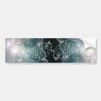 star constellation zodiac astrology Zodiac  Pisces Bumper Sticker
