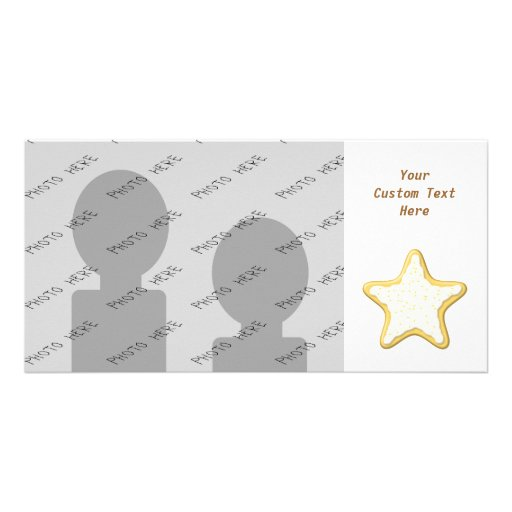 Star Cookie Design. Personalized Photo Card