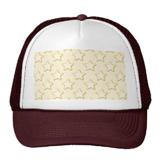 Star Cookies Pattern. Cream and Yellow. Cap