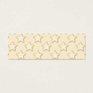 Star Cookies Pattern. Cream and Yellow. Mini Business Card