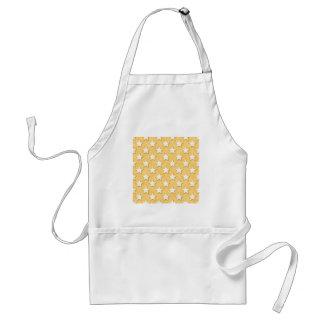 Star Cookies Pattern. Golden Yellow. Standard Apron