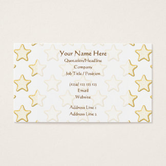 Star Cookies Pattern. On White. Business Card