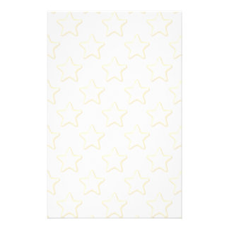 Star Cookies Pattern. On White. Personalized Stationery