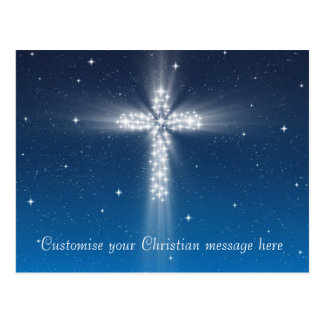 Star Cross #5 - Postcard Horizontal Light Blue