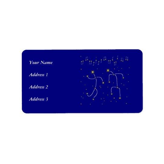 Star Dance Address Label