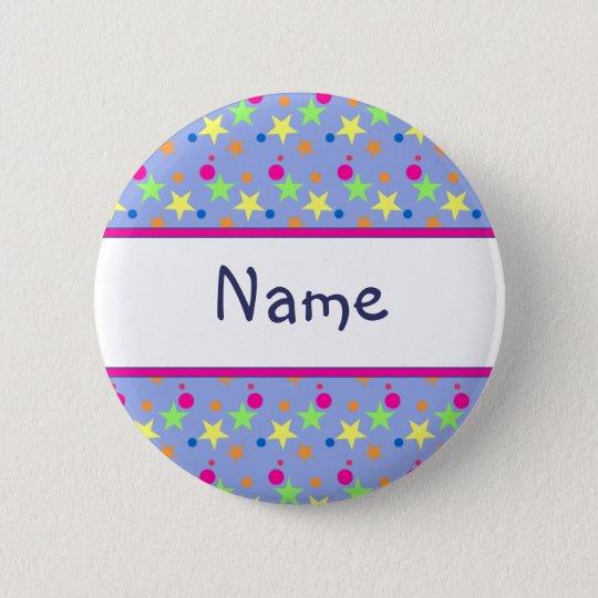 Star Design 6 Cm Round Badge