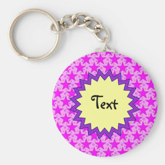 Star Design Template Basic Round Button Key Ring