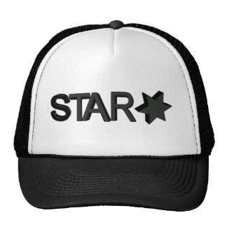 star desing mesh hats