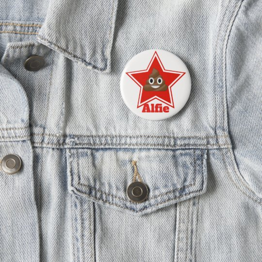 Star Emoji Poo 6 Cm Round Badge