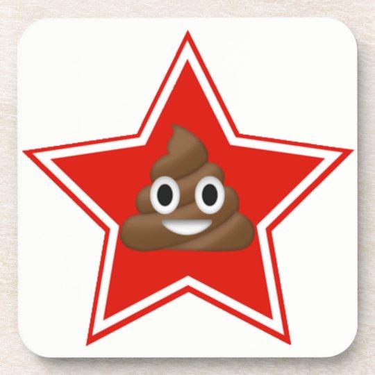 Star Emoji Poo Coaster