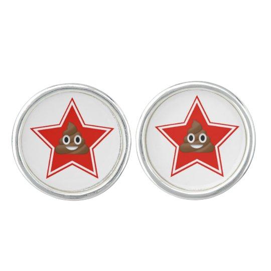 Star Emoji Poo Cufflinks