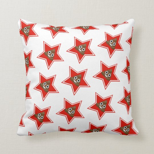 Star Emoji Poo Double-Sided Cushion