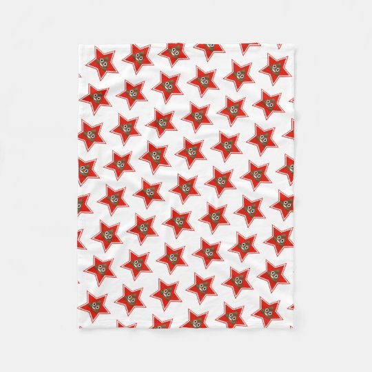 Star Emoji Poo Fleece Blanket