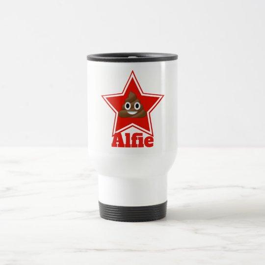 Star Emoji Poo Travel Mug