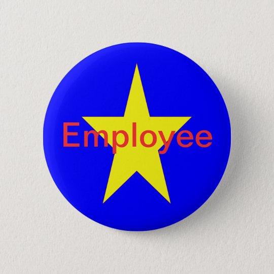 Star Employee 6 Cm Round Badge