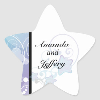 Star Envelope Seal | Bubble Star Fairy Tale Star Sticker