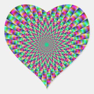 Star Explosion Heart Sticker