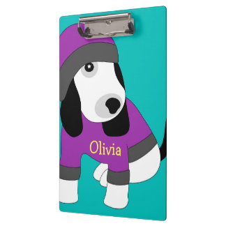 Star eye cute puppy dog clipboard