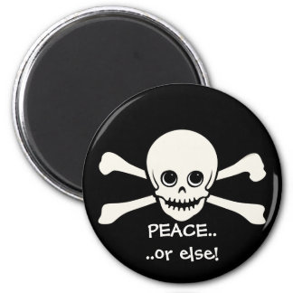 Star Eyed Skull 6 Cm Round Magnet
