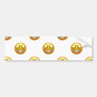 star eyes emoji bumper sticker