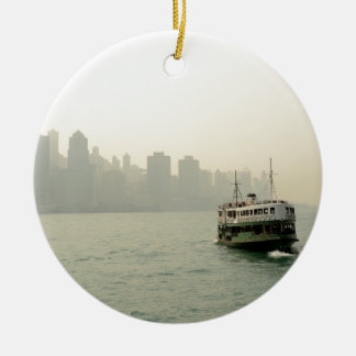 Star Ferry Hong Kong Round Ceramic Decoration
