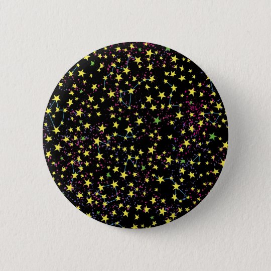 Star Field 6 Cm Round Badge