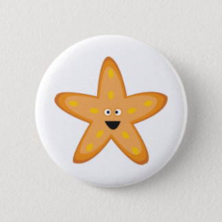 Star Fish 6 Cm Round Badge
