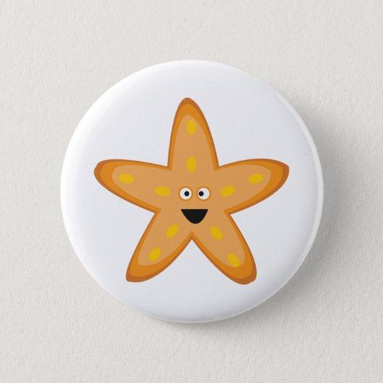 Star Fish 6 Cm Round Badge