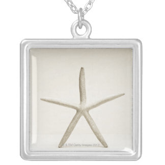 Star fish shell silver plated necklace