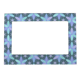 Star Floral in Cool Colors Magnetic Frame